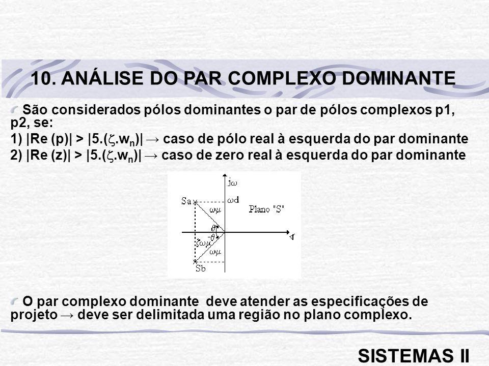 10. ANÁLISE DO PAR COMPLEXO DOMINANTE