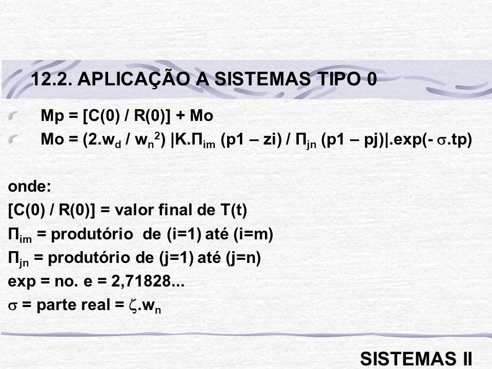 12.2. APLICAÇÃO A SISTEMAS TIPO 0