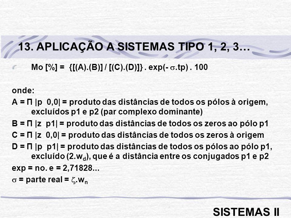 13. APLICAÇÃO A SISTEMAS TIPO 1, 2, 3…