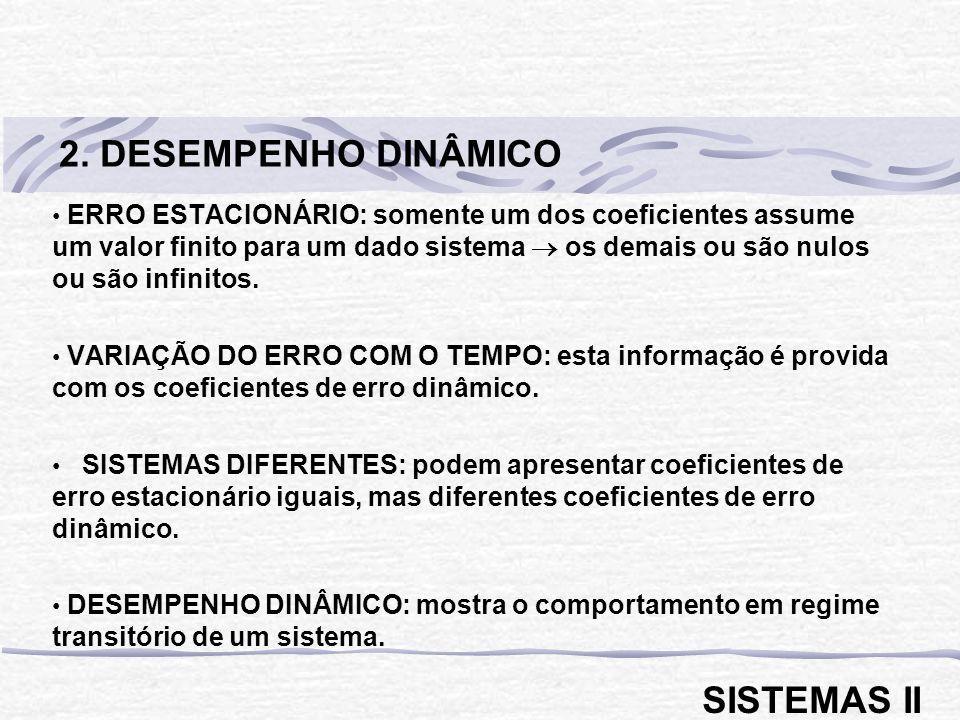 2. DESEMPENHO DINÂMICO SISTEMAS II