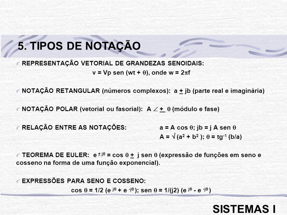 5. TIPOS DE NOTAÇÃO SISTEMAS I