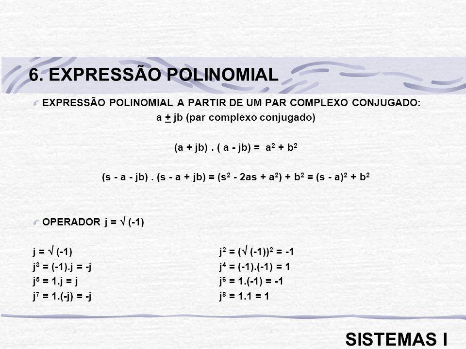 6. EXPRESSÃO POLINOMIAL SISTEMAS I