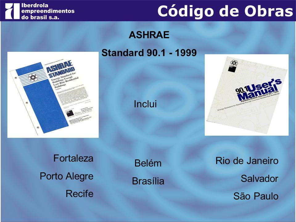 Código de Obras ASHRAE Standard 90.1 - 1999 Inclui Fortaleza