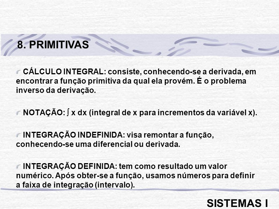 8. PRIMITIVAS