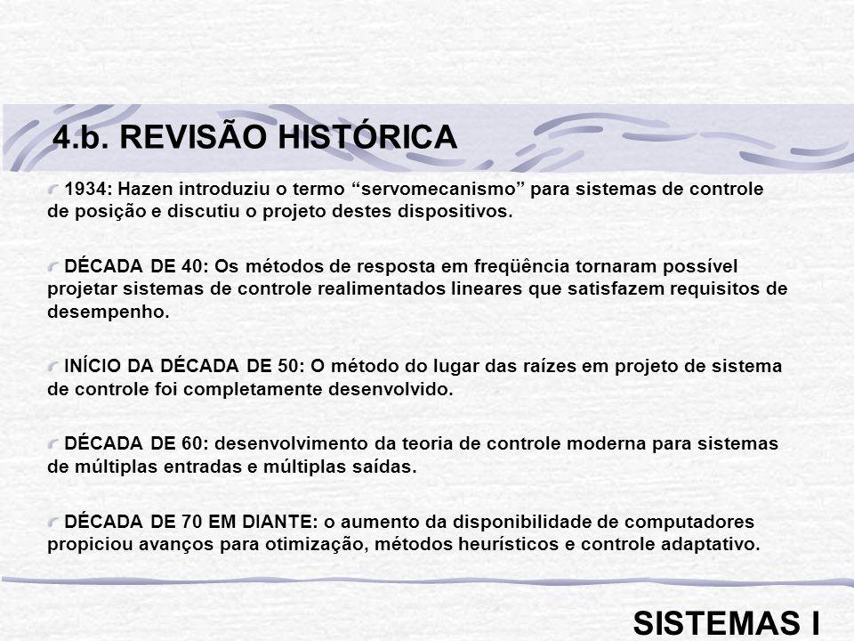 4.b. REVISÃO HISTÓRICA SISTEMAS I