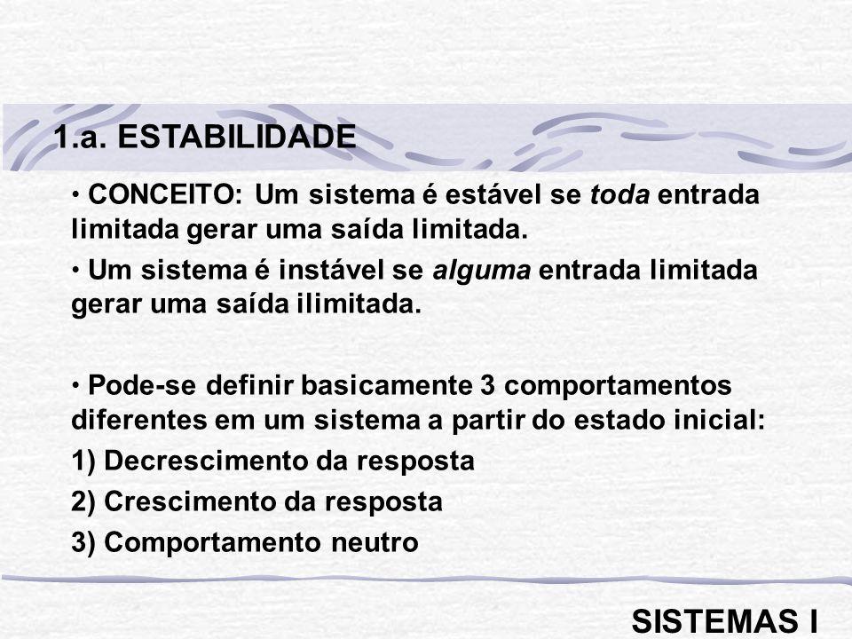 1.a. ESTABILIDADE SISTEMAS I