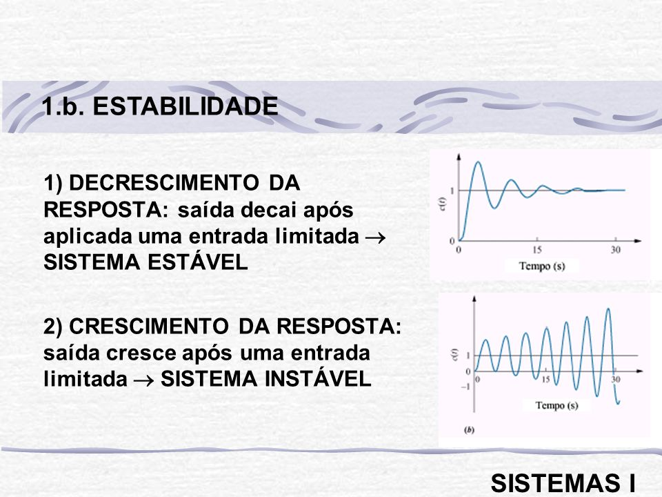 1.b. ESTABILIDADE SISTEMAS I