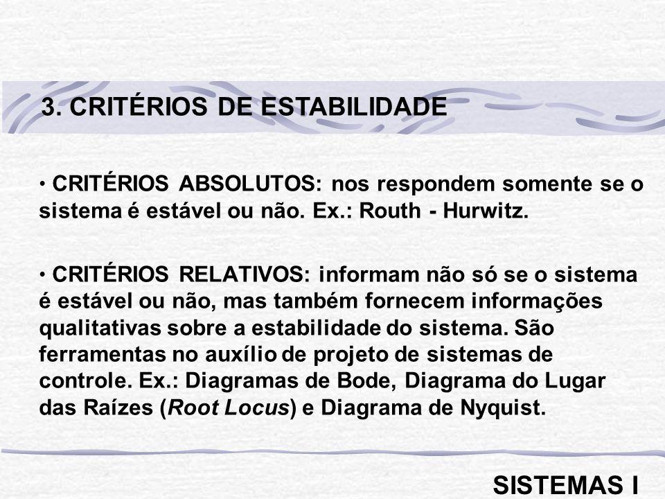 3. CRITÉRIOS DE ESTABILIDADE