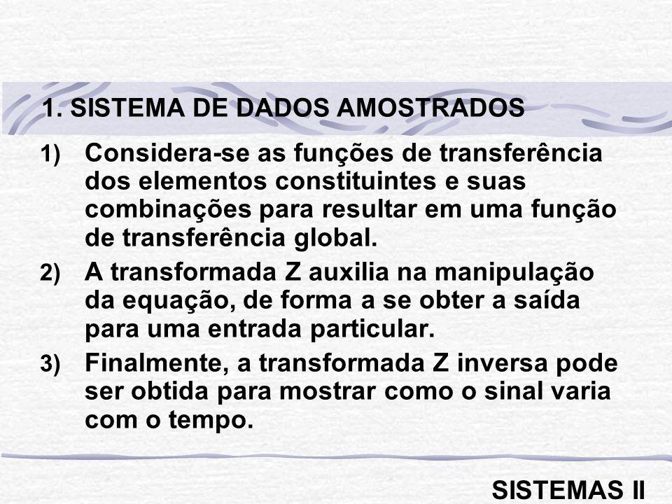 1. SISTEMA DE DADOS AMOSTRADOS
