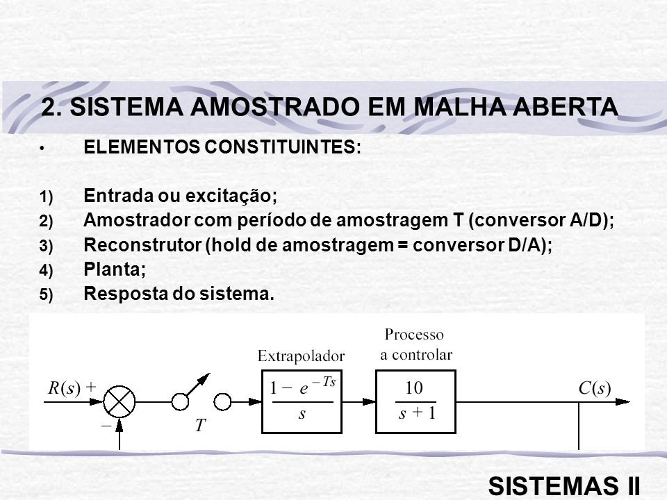 2. SISTEMA AMOSTRADO EM MALHA ABERTA