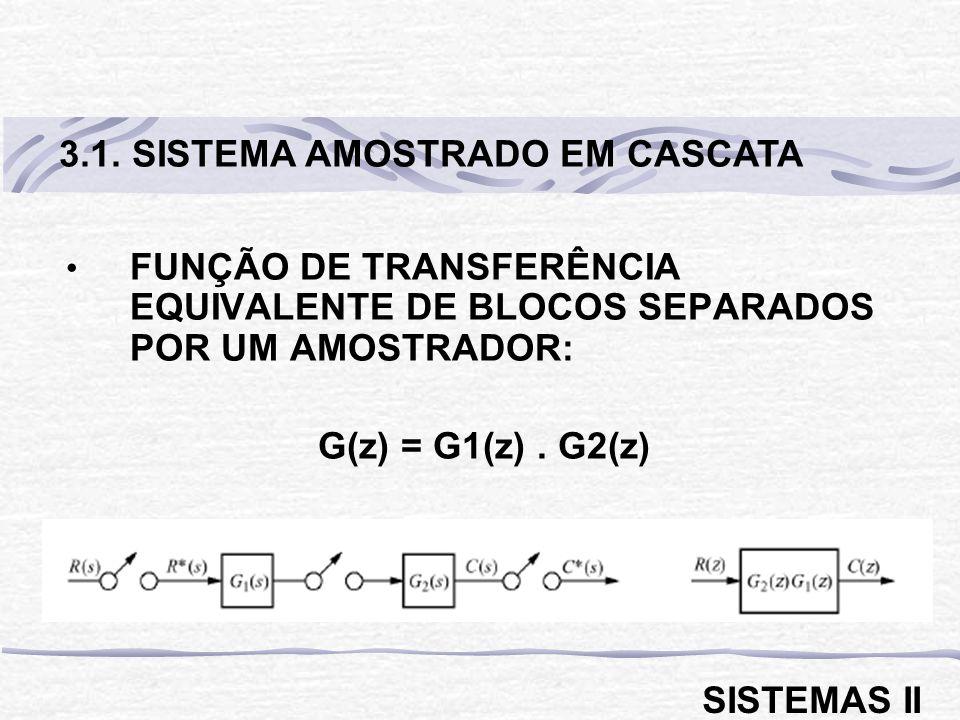 3.1. SISTEMA AMOSTRADO EM CASCATA