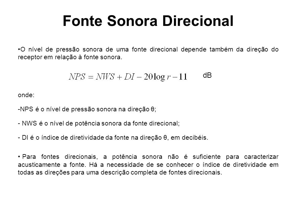 Fonte Sonora Direcional