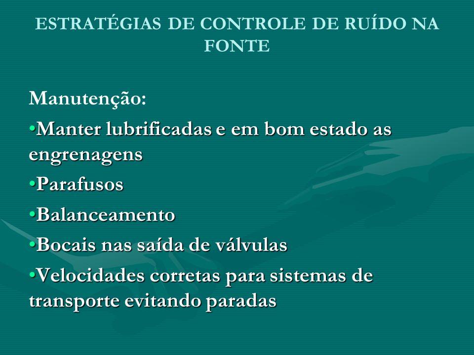 ESTRATÉGIAS DE CONTROLE DE RUÍDO NA FONTE