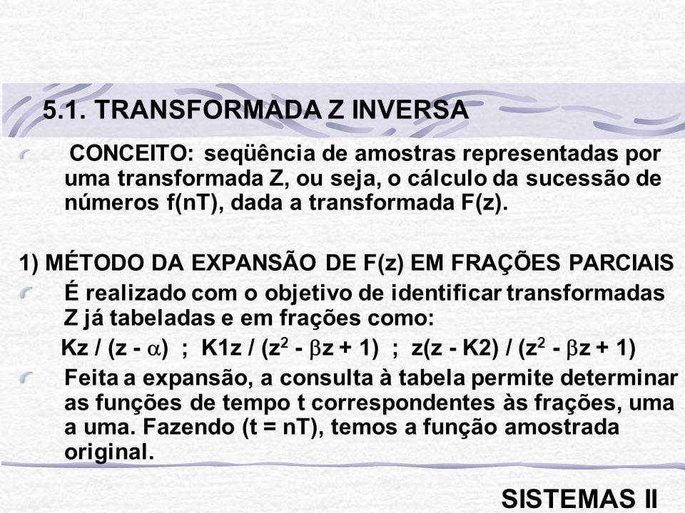 Kz / (z - ) ; K1z / (z2 - z + 1) ; z(z - K2) / (z2 - z + 1)