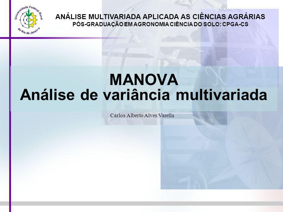 MANOVA Análise de variância multivariada
