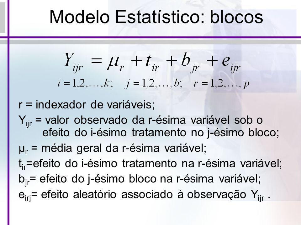 Modelo Estatístico: blocos
