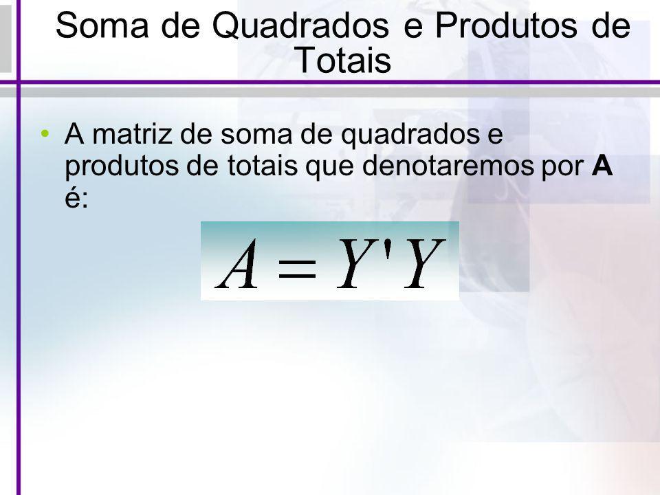 Soma de Quadrados e Produtos de Totais
