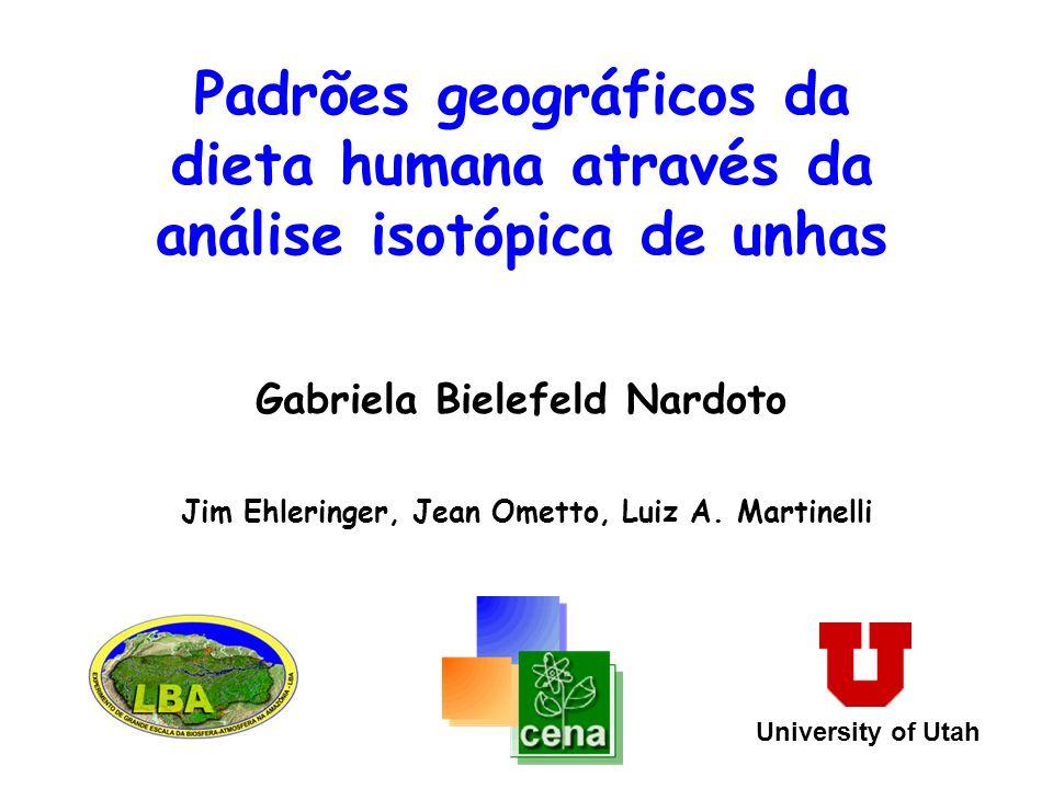 Padrões geográficos da dieta humana através da análise isotópica de unhas