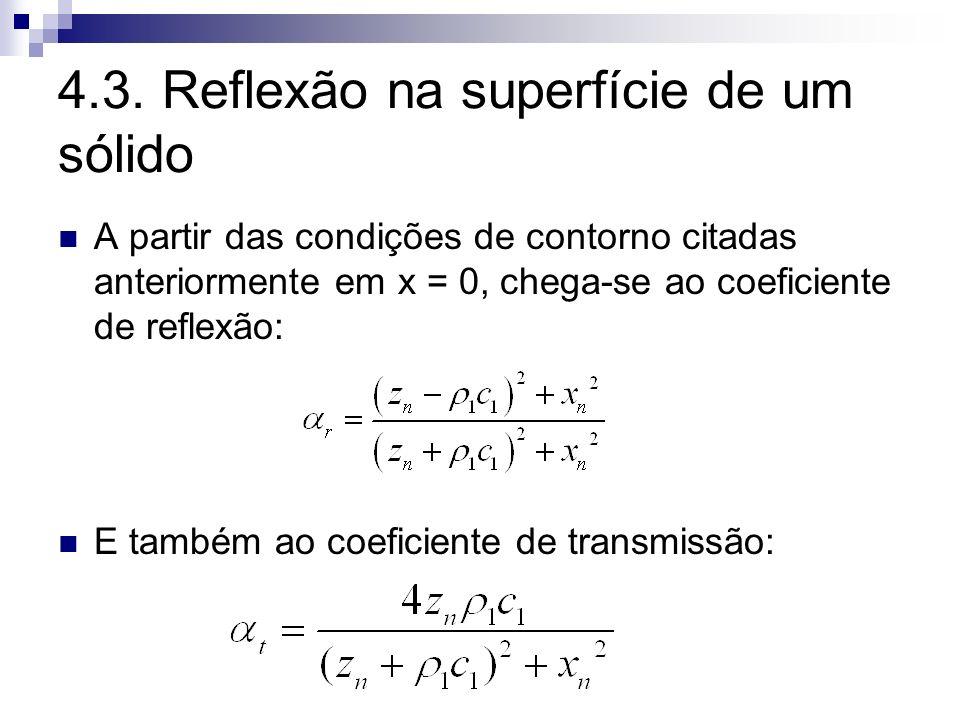 4.3. Reflexão na superfície de um sólido