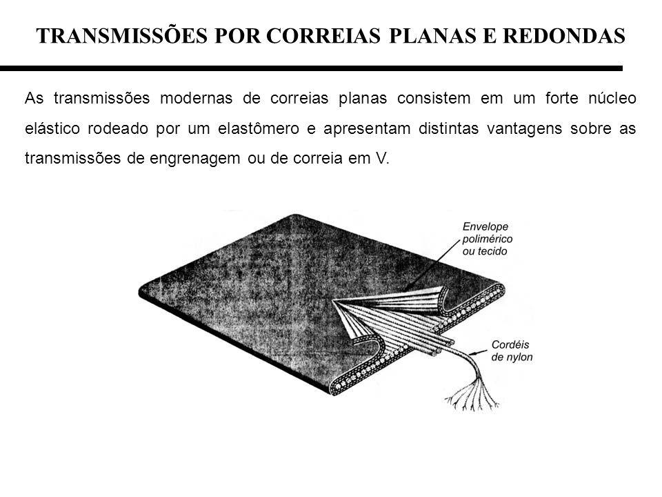 TRANSMISSÕES POR CORREIAS PLANAS E REDONDAS