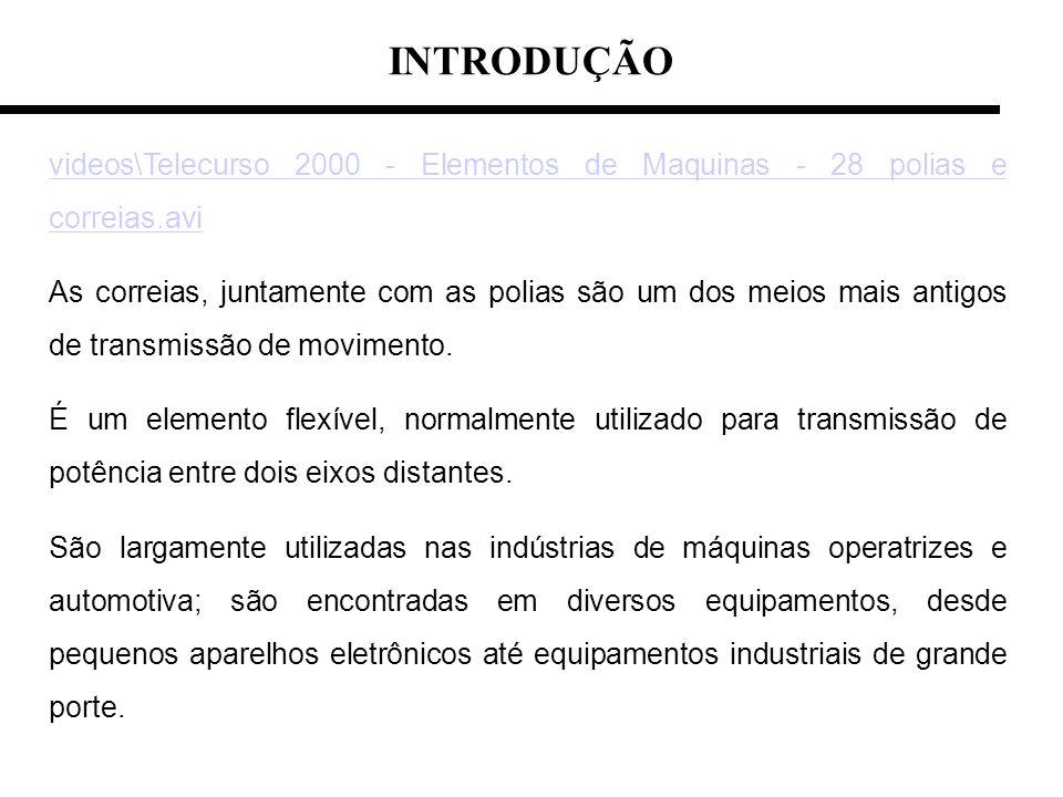 INTRODUÇÃO videos\Telecurso 2000 - Elementos de Maquinas - 28 polias e correias.avi.