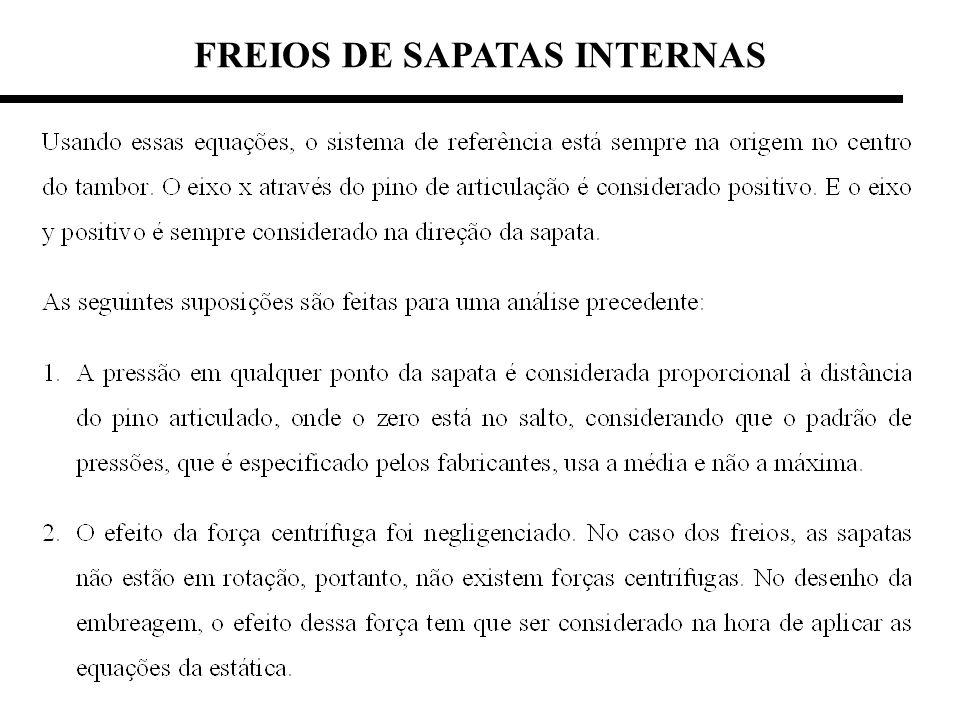 FREIOS DE SAPATAS INTERNAS