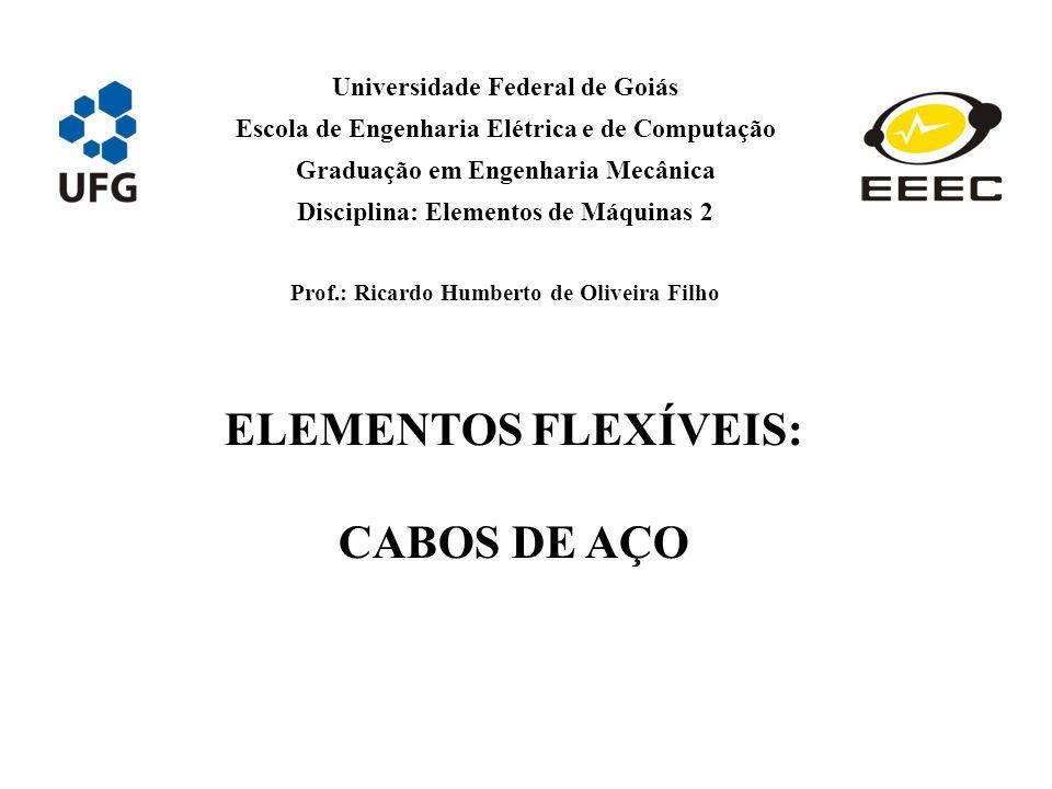 ELEMENTOS FLEXÍVEIS: CABOS DE AÇO