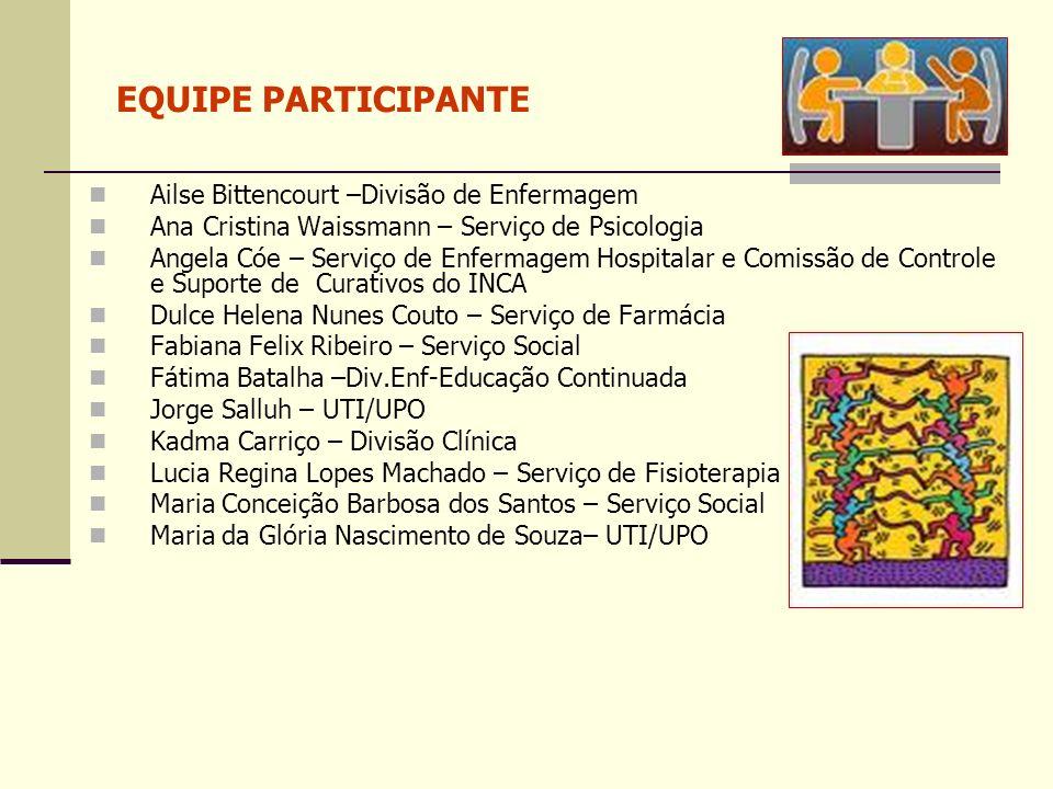 EQUIPE PARTICIPANTE Ailse Bittencourt –Divisão de Enfermagem