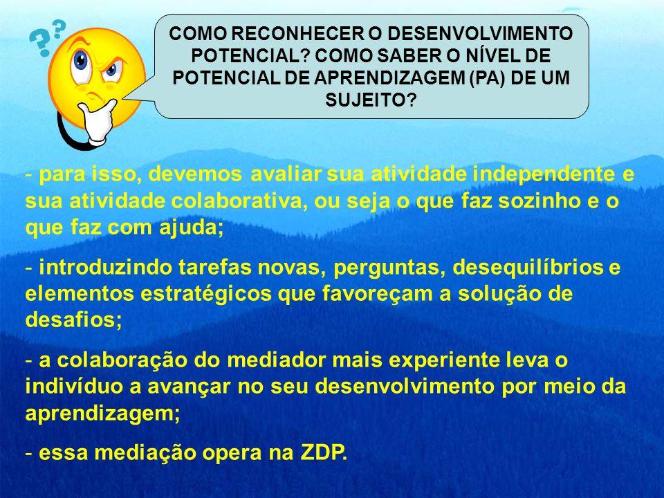 essa mediação opera na ZDP.