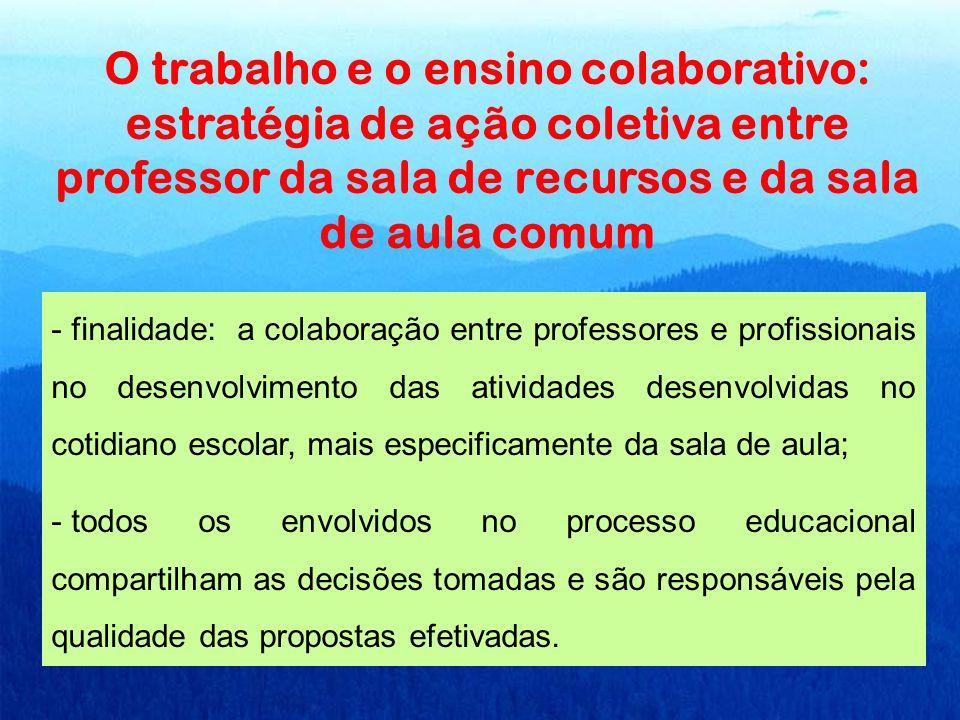 O trabalho e o ensino colaborativo: estratégia de ação coletiva entre professor da sala de recursos e da sala de aula comum