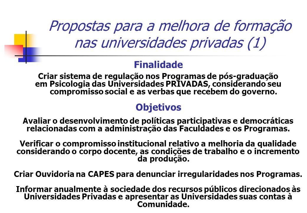 Propostas para a melhora de formação nas universidades privadas (1)