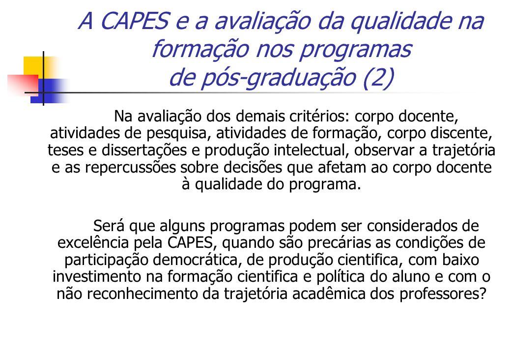 A CAPES e a avaliação da qualidade na formação nos programas de pós-graduação (2)