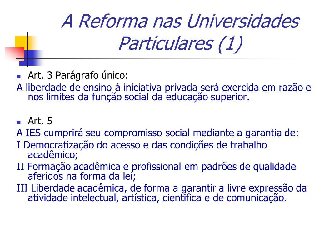 A Reforma nas Universidades Particulares (1)