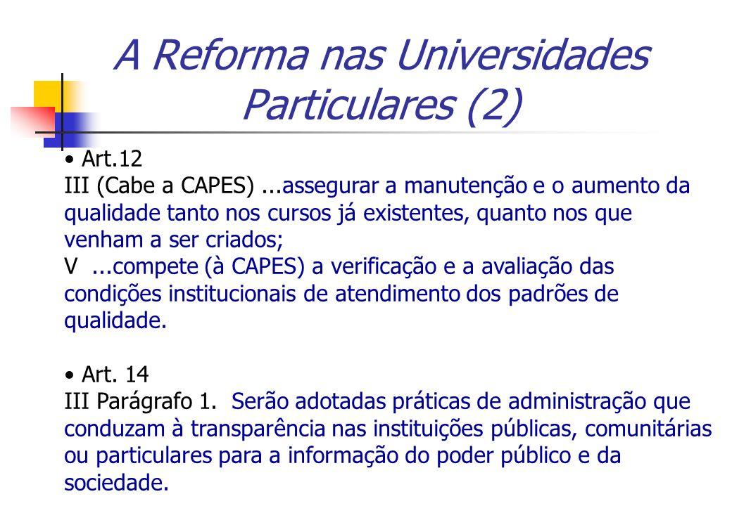 A Reforma nas Universidades Particulares (2)