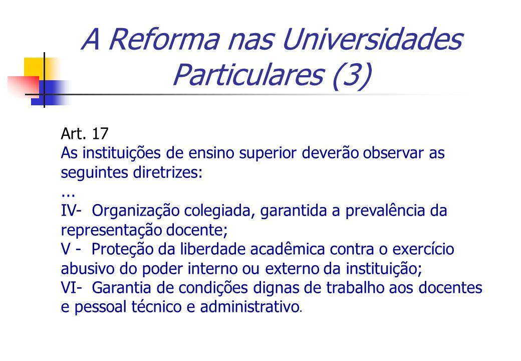 A Reforma nas Universidades Particulares (3)