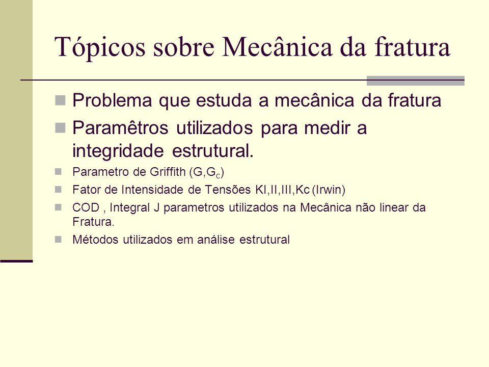 Tópicos sobre Mecânica da fratura