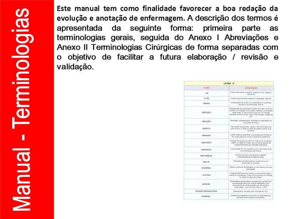 Manual - Terminologias