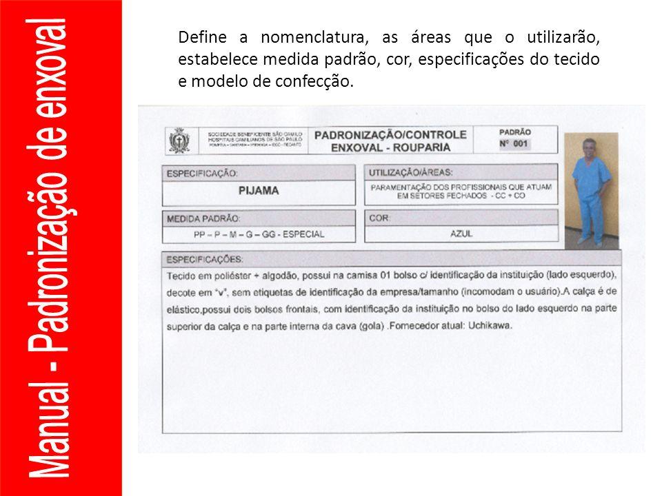 Manual - Padronização de enxoval Manual de Biosegurança