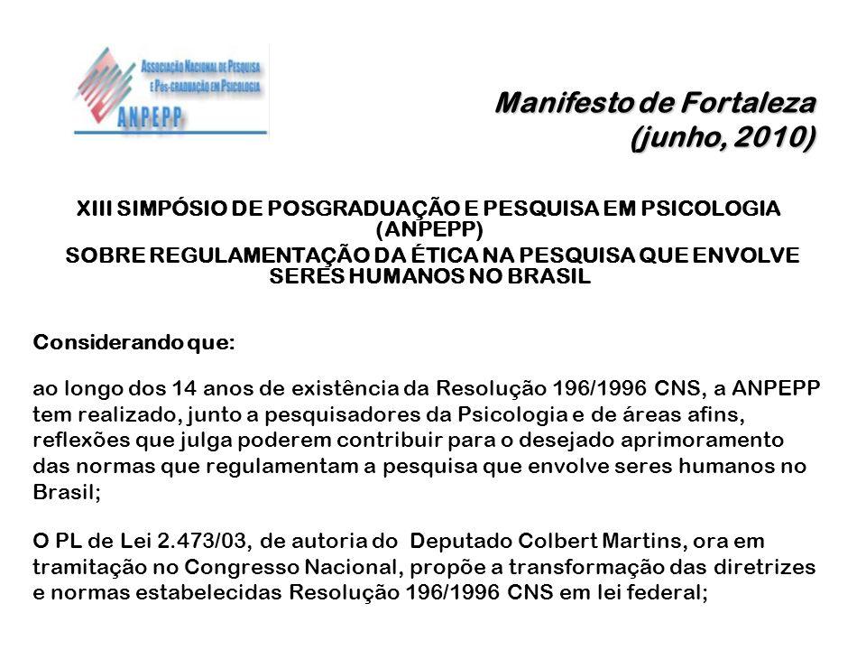 Manifesto de Fortaleza (junho, 2010)