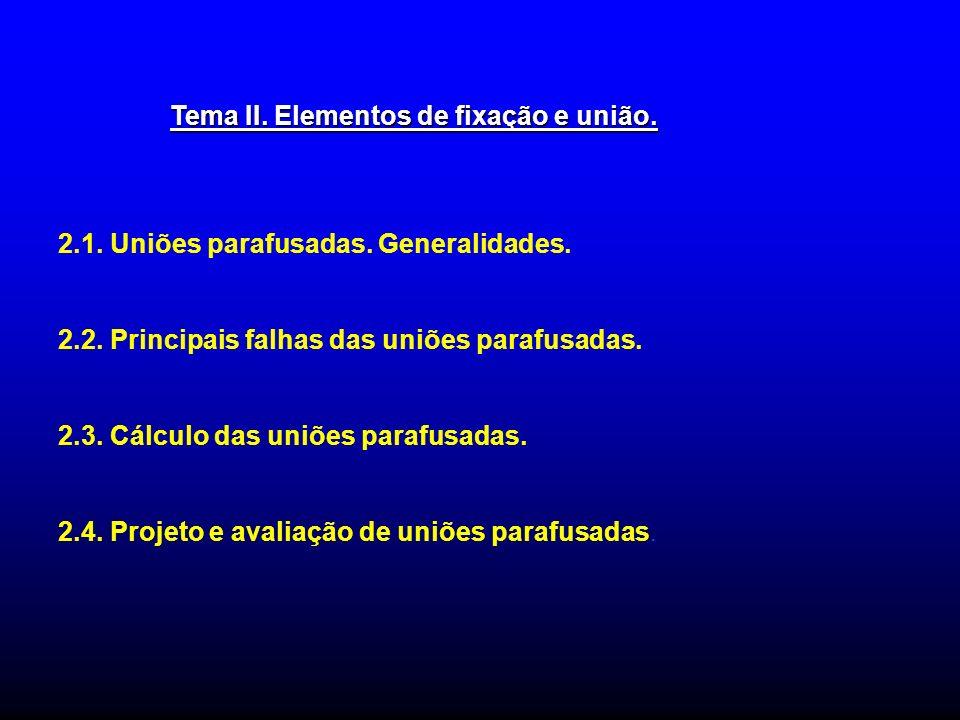 Tema II. Elementos de fixação e união.