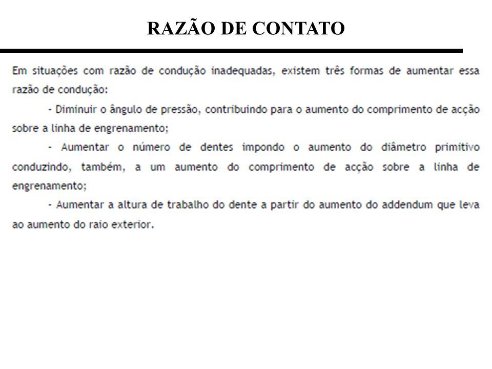 RAZÃO DE CONTATO