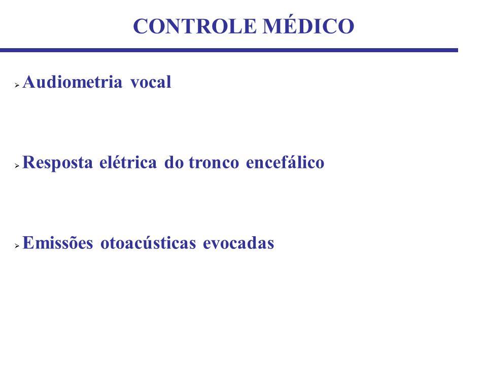 CONTROLE MÉDICO Audiometria vocal