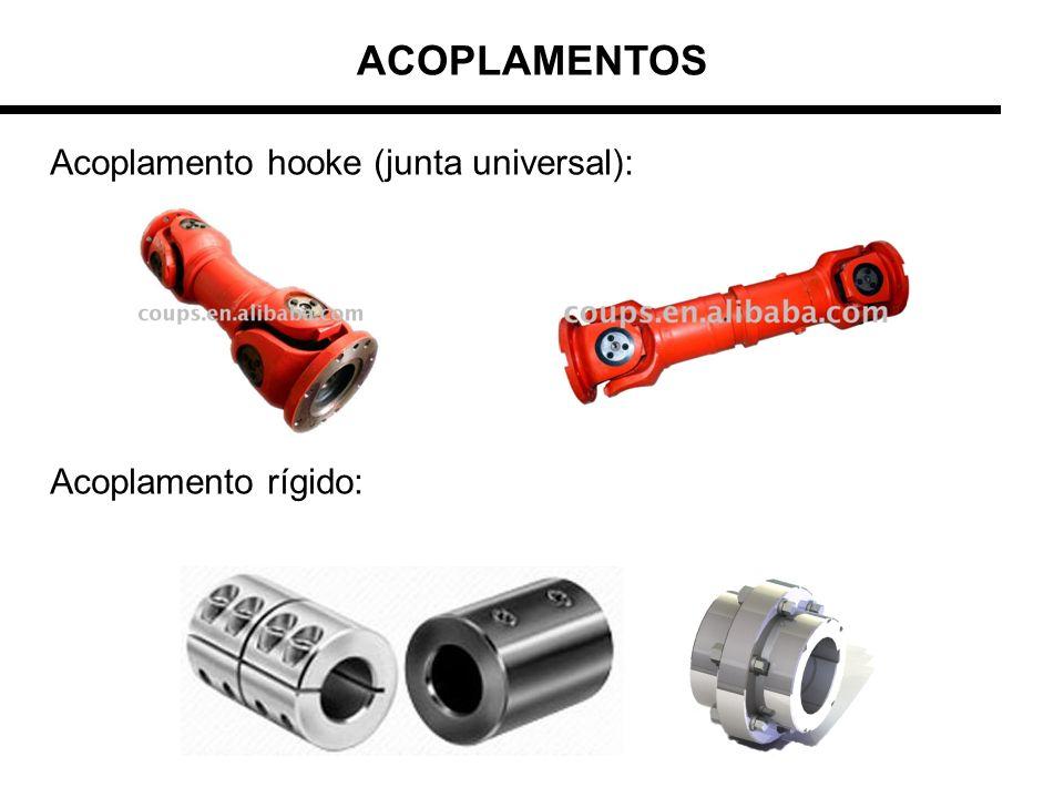 ACOPLAMENTOS Acoplamento hooke (junta universal): Acoplamento rígido: