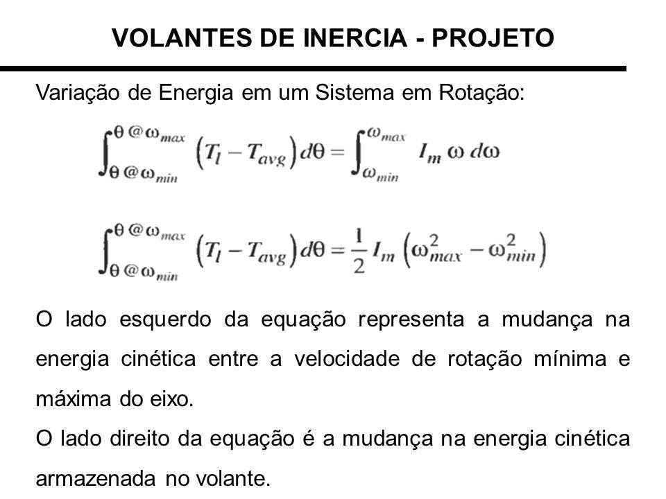 VOLANTES DE INERCIA - PROJETO