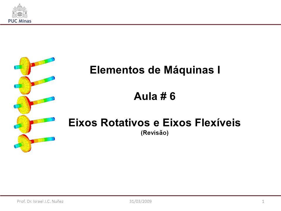 Elementos de Máquinas I Eixos Rotativos e Eixos Flexíveis