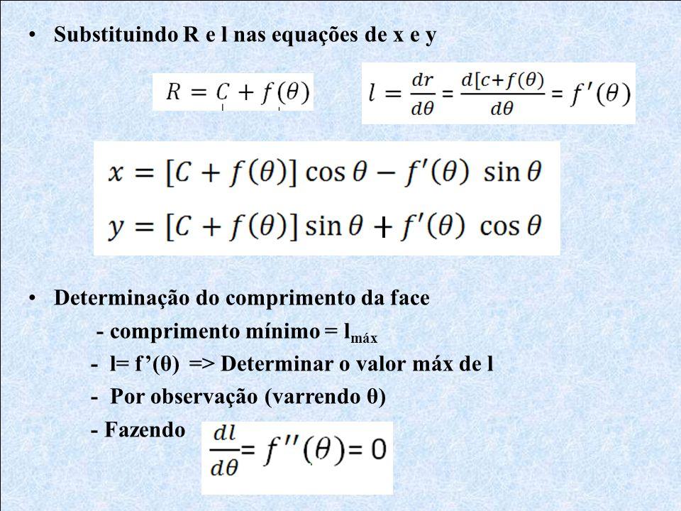 Substituindo R e l nas equações de x e y