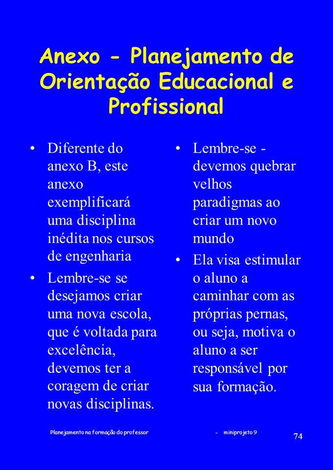 Anexo - Planejamento de Orientação Educacional e Profissional