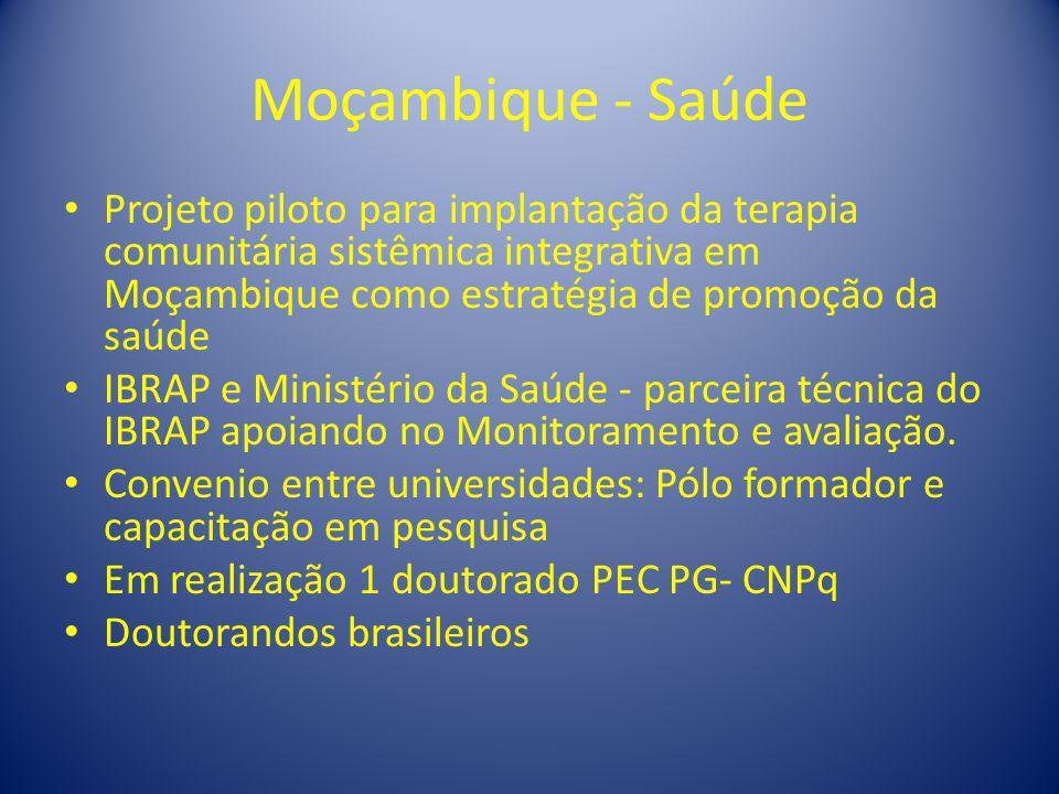 Moçambique - SaúdeProjeto piloto para implantação da terapia comunitária sistêmica integrativa em Moçambique como estratégia de promoção da saúde.