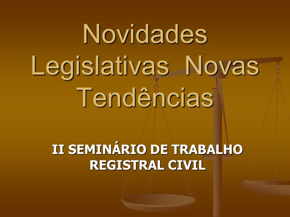 Novidades Legislativas Novas Tendências