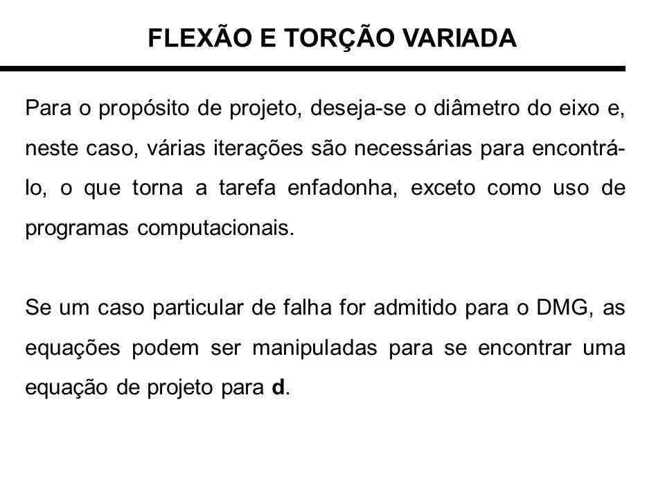 FLEXÃO E TORÇÃO VARIADA